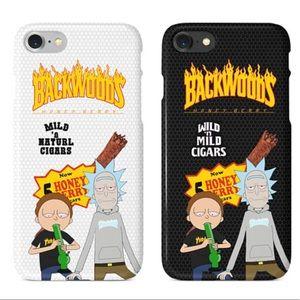 Rick Morty Thrasher Backwoods iPhone 5 6 7 X Case